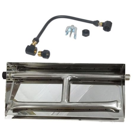 Tretco Stainless Steel Dual Fire Pit Burner Pan