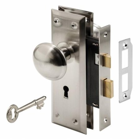 Satin Nickel Keyed Mortise Lock Set, 2.25 x 7 x 2.25 in. - image 1 de 1