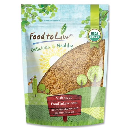 Food To Live ® Certified Organic Whole Golden Flaxseed (Raw, Non-GMO, Bulk Flax Seed) (4 Pounds)