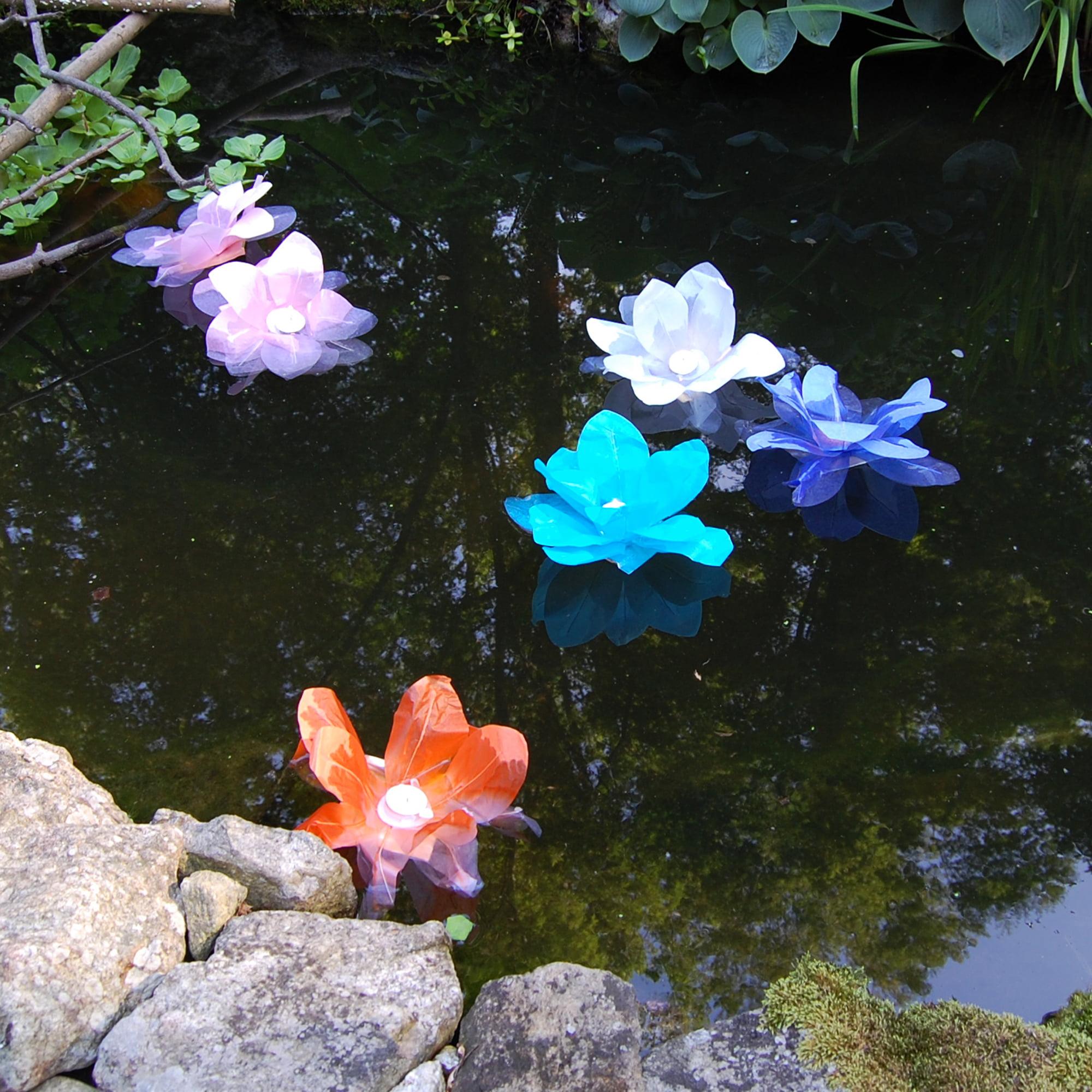 LumaBase Lotus Floating Lanterns, 6 Count