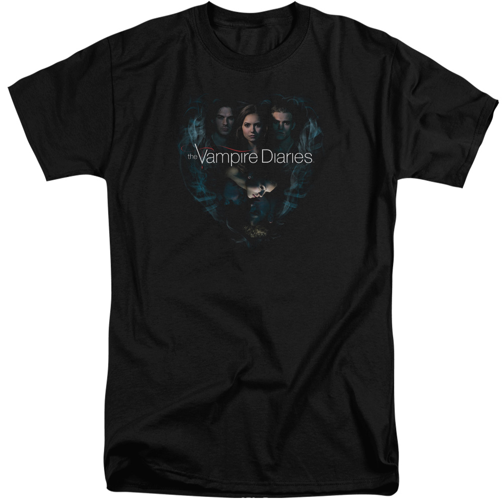 Vampire Diaries Hearts Desire Mens Big and Tall Shirt