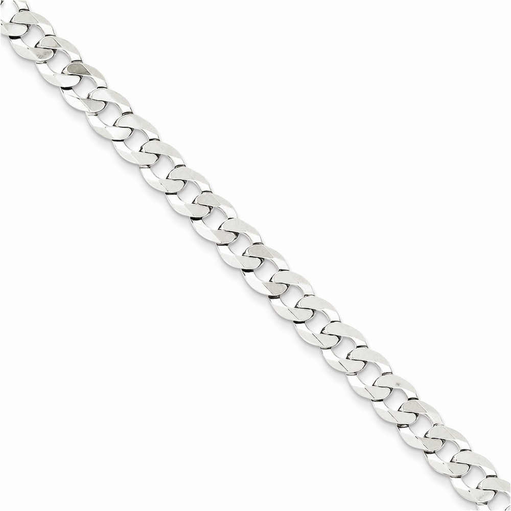 Sterling Silver 5.75mm Close Link Flat Curb Chain Length 24