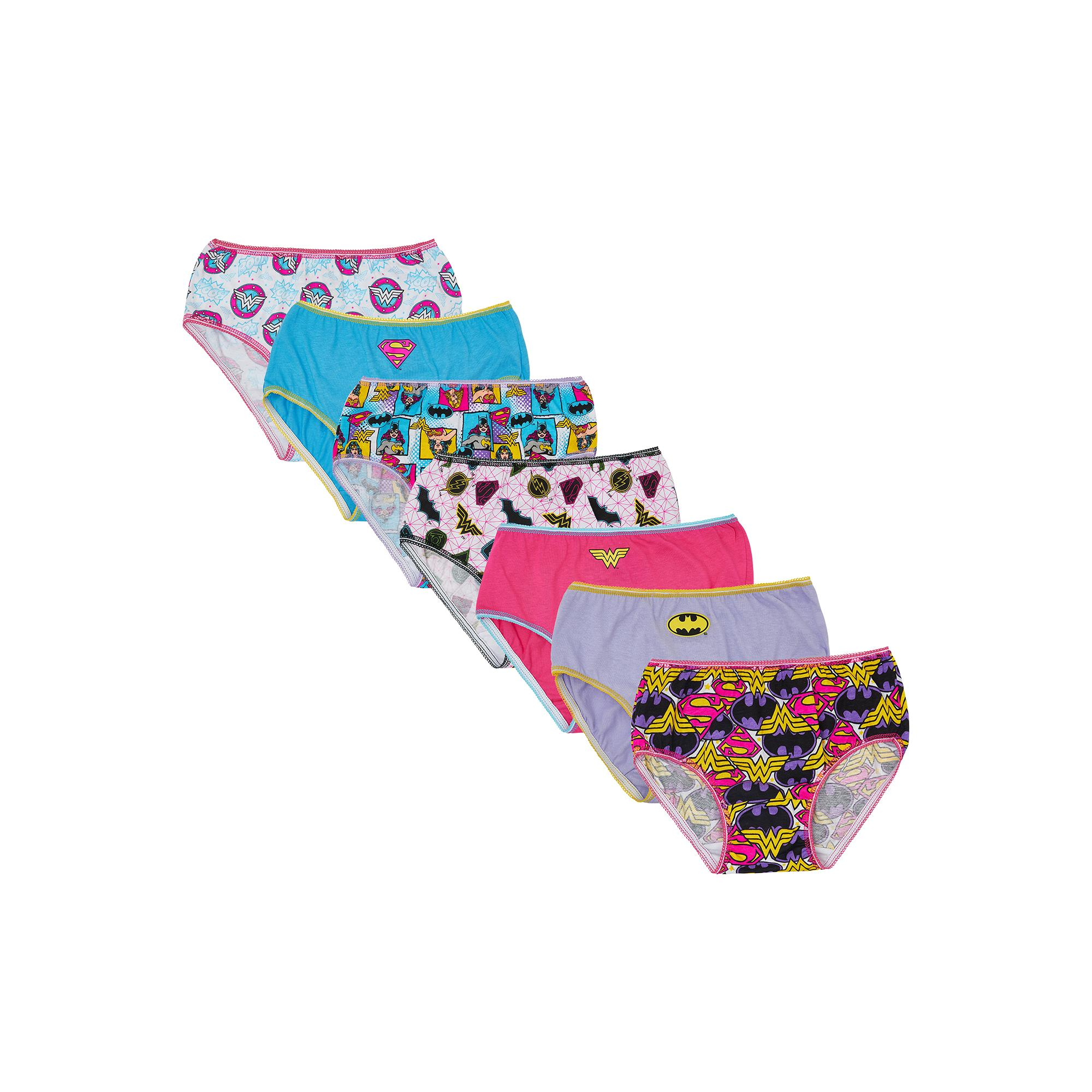 DC Comics Logo Girls' Underwear, 7 Pack