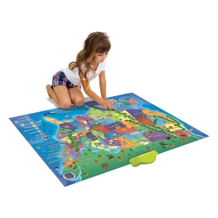 Interactive Map Electronic Kids Map Of The United States - Us map puzzle quiz