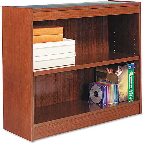 ALERA ALEBCS23036MC Square Corner Bookcase,2 Shelf,Cherry G4490650 by ALERA