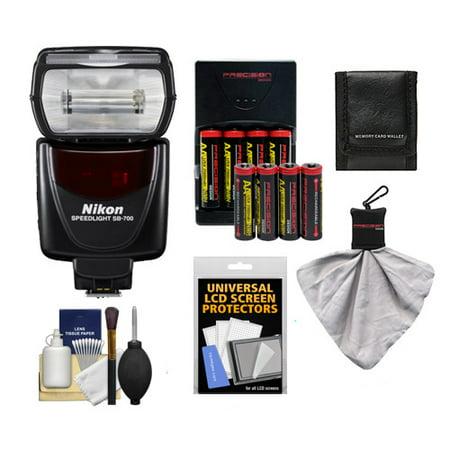 Nikon SB-700 AF Speedlight Flash + (8) Batteries & Charger + Kit for D3300, D3400, D5300, D5500, D7100, D7200, D610, D750, D810, D500, D5 DSLR