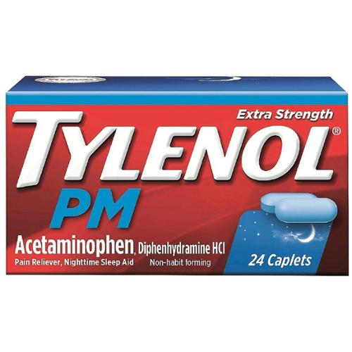TYLENOL Extra Strength PM Caplets 24 ea (Pack of 6)