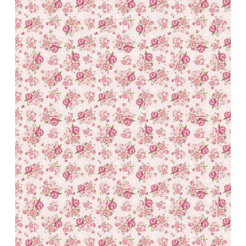 "Craft Consortium Decoupage Papers 13.75""X15.75"" 3/Pkg-Pink Rose Polka Dot"
