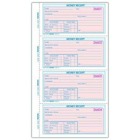 Rediform Money Receipt Book - 200 Sheet[s] - Wire Bound - 2 Part - (8l804) Rediform Two Part