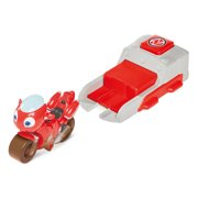 Ricky Zoom Launch & Go Playset featuring an Exclusive Ricky Zoom Action Figure Set– Free-Wheeling, Standing Toy Bike and Speed Launcher for Preschool Play