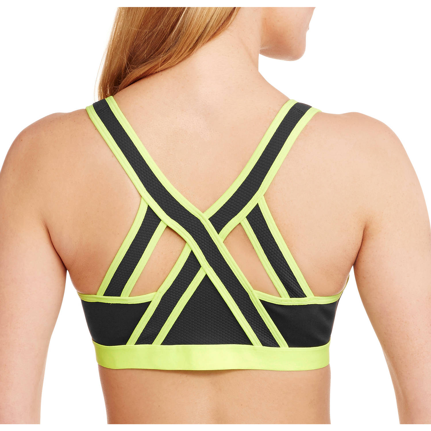 f11aed4434910 Danskin Now - Criss Cross Back Straps Front Close Sports Bra