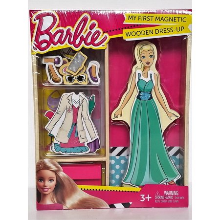 Barbie My First Magnetic Wooden Dress Up Doll Set By First Learning