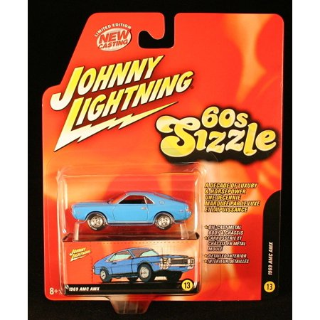 - 1969 AMC AMX * BLUE * 60s Sizzle 2006 Die-Cast Vehicle #13 of 16, 1969 AMC AMX * BLUE * 60s Sizzle Johnny Lightning 2006 Die-Cast Vehicle #13 of 16 By Johnny Lightning From USA
