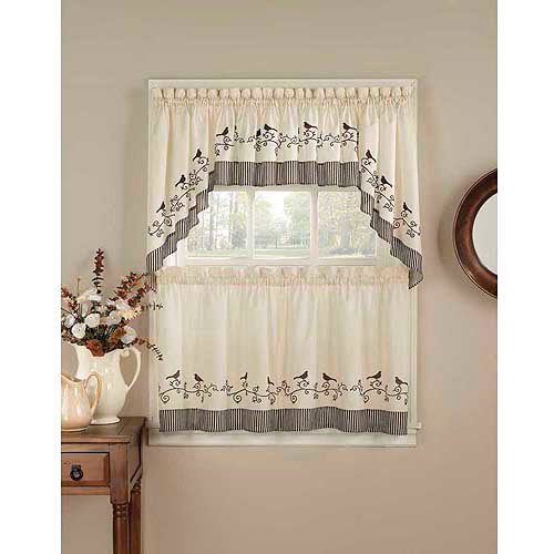 CHF & You Birds Tailored  Kitchen Curtains, Set of 2