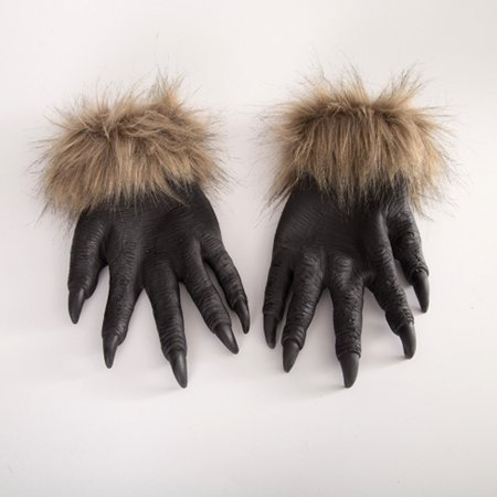 fashionhome Halloween Wolf Hands Claws Latex Horrific Costume Accessory Gloves Creepy Cosplay Tool Scary Decorations - image 7 of 8