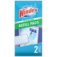 Windex Outdoor All-in-One Glass Cleaning Tool Refill Pads, 2 ct