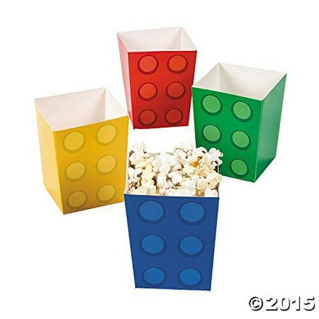 Paper Color Brick Party Mini Popcorn Boxes - 24 - Mini Popcorn
