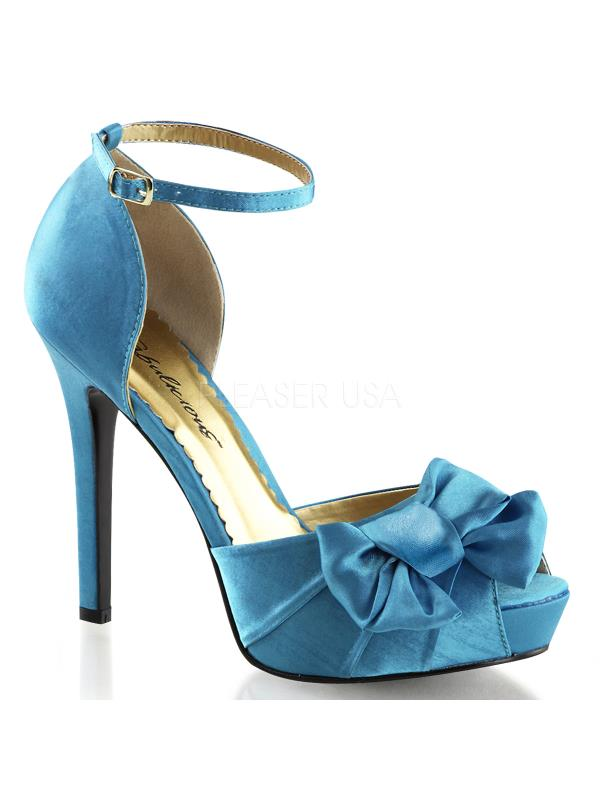 "LUMINA36/BLUSA Fabulicious Shoes Shoes Shoes 4 3/4"" Lumina Blue Satin Size: 6 ba49ad"