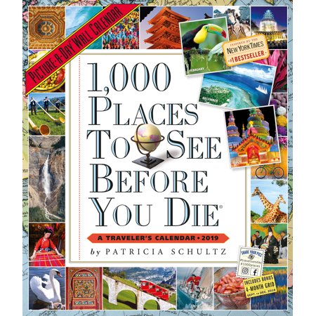 (1,000 Places to See Before You Die Picture-A-Day Wall Calendar 2019)