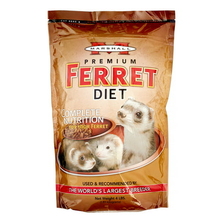 Marshall Pet Products Premium Ferret Food, 4 Lb 4lb Small Animal Foods