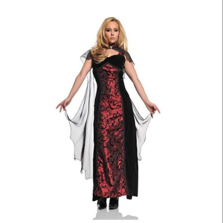Tempest Gothic Velvet & Satin Dress With Cape Costume Adult
