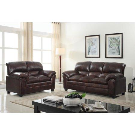 GTU FURNITURE Faux Leather Sofa and Loveseat Living Room Furniture Set