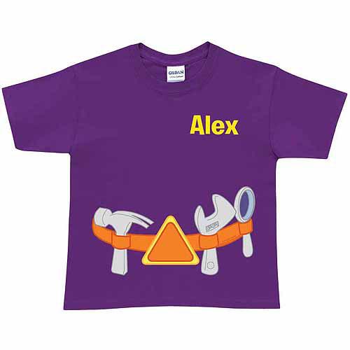 Personalized Super Why! Alpha Tool Belt Kids' T-Shirt, Purple