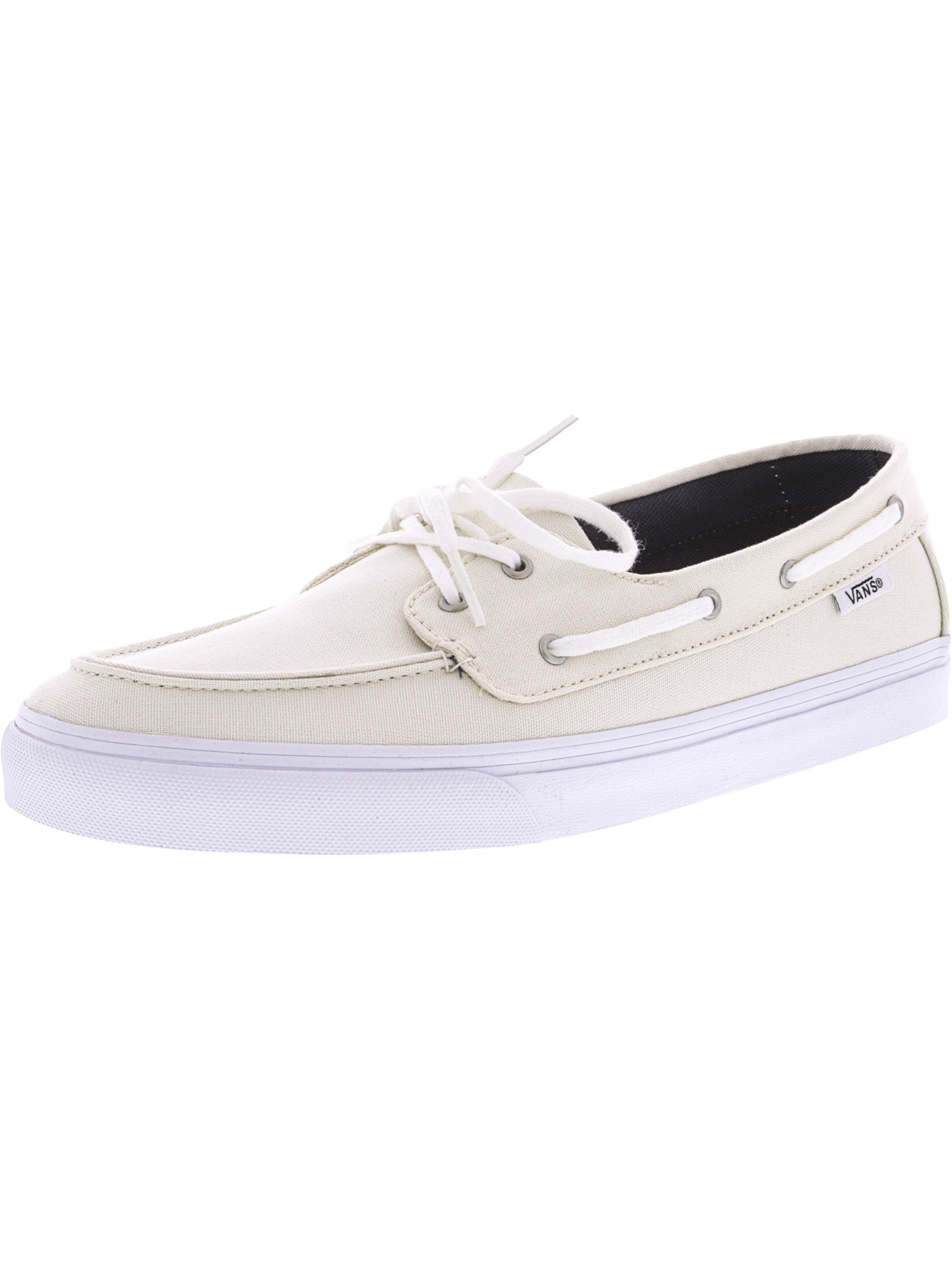 Vans Women's Chauffette Sf Marshmallow Ankle-High Canvas Athletic Boating Shoe - 10.5M