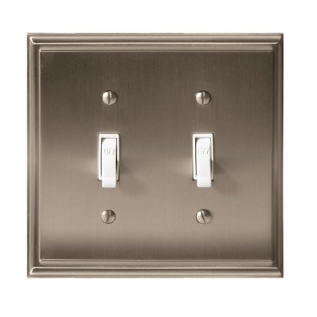 Mulholland 2 Toggle Satin Nickel Wall Plate Ultralights Nickel Plate