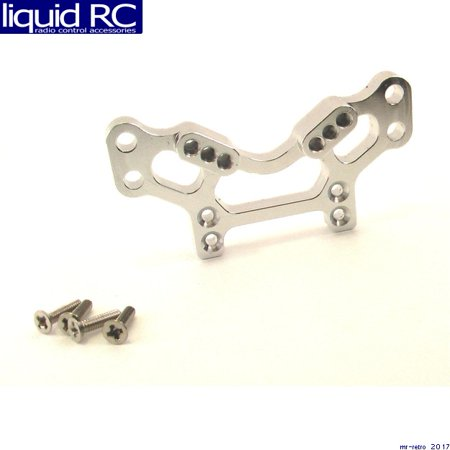 Hot Racing AER3008 Silver Alum. Rear Shock Tower 18r Silver Alum Shock Tower
