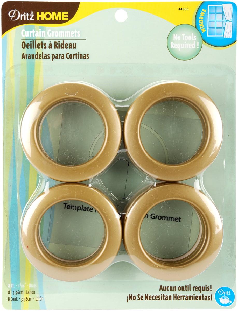 Dritz Home Curtain Grommets 1 9 16 Inner Diameter Plastic Brass 8 Pkg Com
