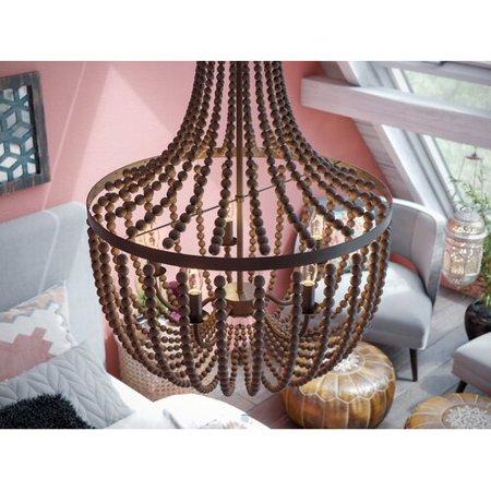 Bay Isle Home Tilden Wood Bead 5-Light Empire - Beaded Chandelier