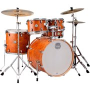 "Mapex ST5295FIC Storm Rock 22"" Bass Drum 5-Piece Drum Set w/ Hardware - Camphor Wood Grain"