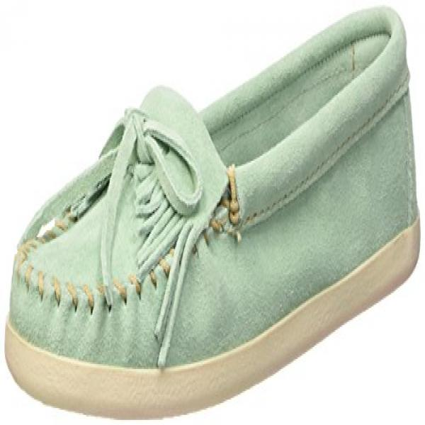 Minnetonka Women's Newport Moccasin,Mint Suede,US 9 M by