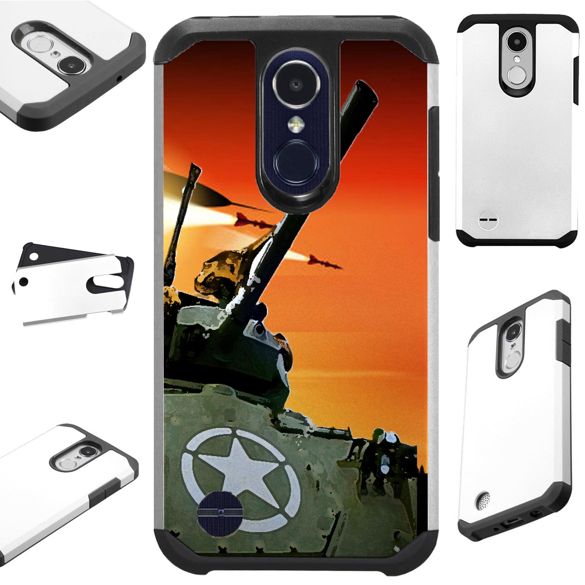 For LG Rebel 4 | LG Rebel 3 Case Hybrid TPU Fusion Phone Cover (War Tank)