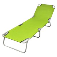 Folding Sun Lounger Summer Nap Couch Recliner Chair Fishing Beach Vacation Foldable Lounger