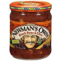 Newman's Own Black Bean & Corn Medium Salsa, 16 oz