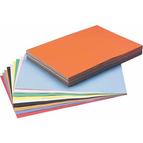 "Tru-Ray Sulphite Construction Paper, 12"" x 18"", 10-Color, Pack of 250"