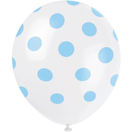 Latex Polka Dot Balloons, Light Pink, 12in, 6ct, 5-Pack (30 Balloons) Polka Dot Elmo