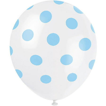 Latex Polka Dot Balloons, Light Pink, 12in, 6ct, 5-Pack (30 Balloons) - Outdoor Balloon Lights
