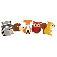 Woodland Animals Fox Raccoon Hedgehog Owl Squirrel Baby Shower Mylar Balloons
