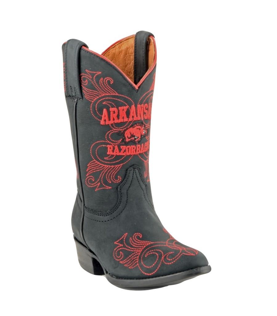 Gameday Boots Girls Western Arkansas Razorbacks Black ARK-G037-2 by Gameday Boots