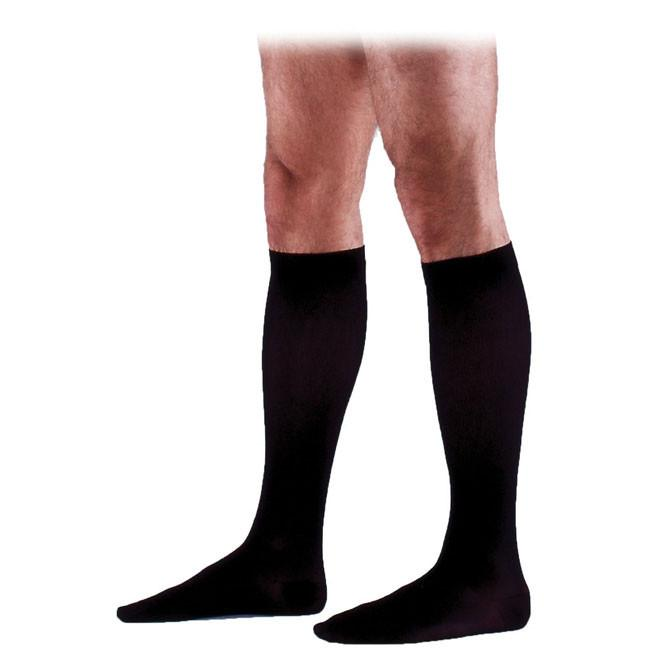 Sigvaris 233 Cotton Men's Closed Toe Knee Highs w/Grip Top - 30-40 mmHg Long  Long SIG233CMS-P