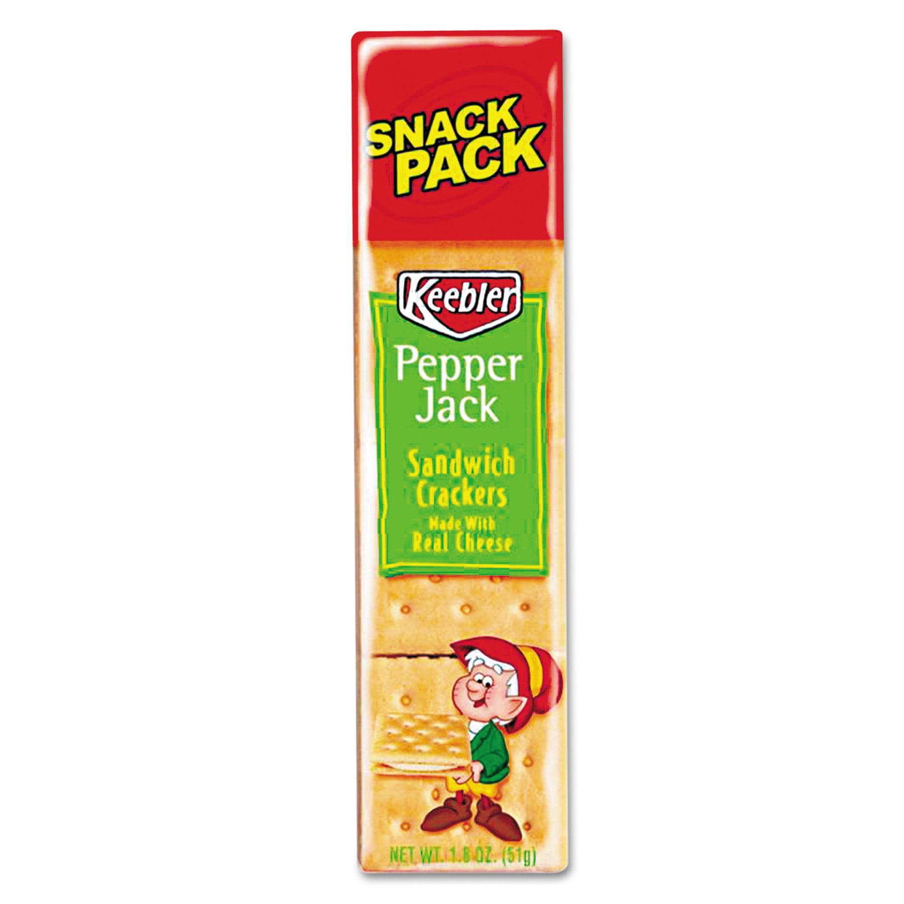 Keebler Pepper Jack Cheese Sandwich Crackers, Single Serve, 1.8 oz Package