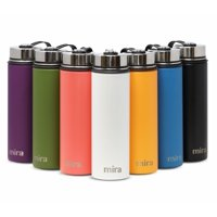 MIRA 32 Oz Stainless Steel Vacuum Insulated Wide Mouth Water Bottle   Thermos Keeps Cold for 24 hours, Hot for 12 hours   Double Wall Powder Coated Travel Flask   Iris