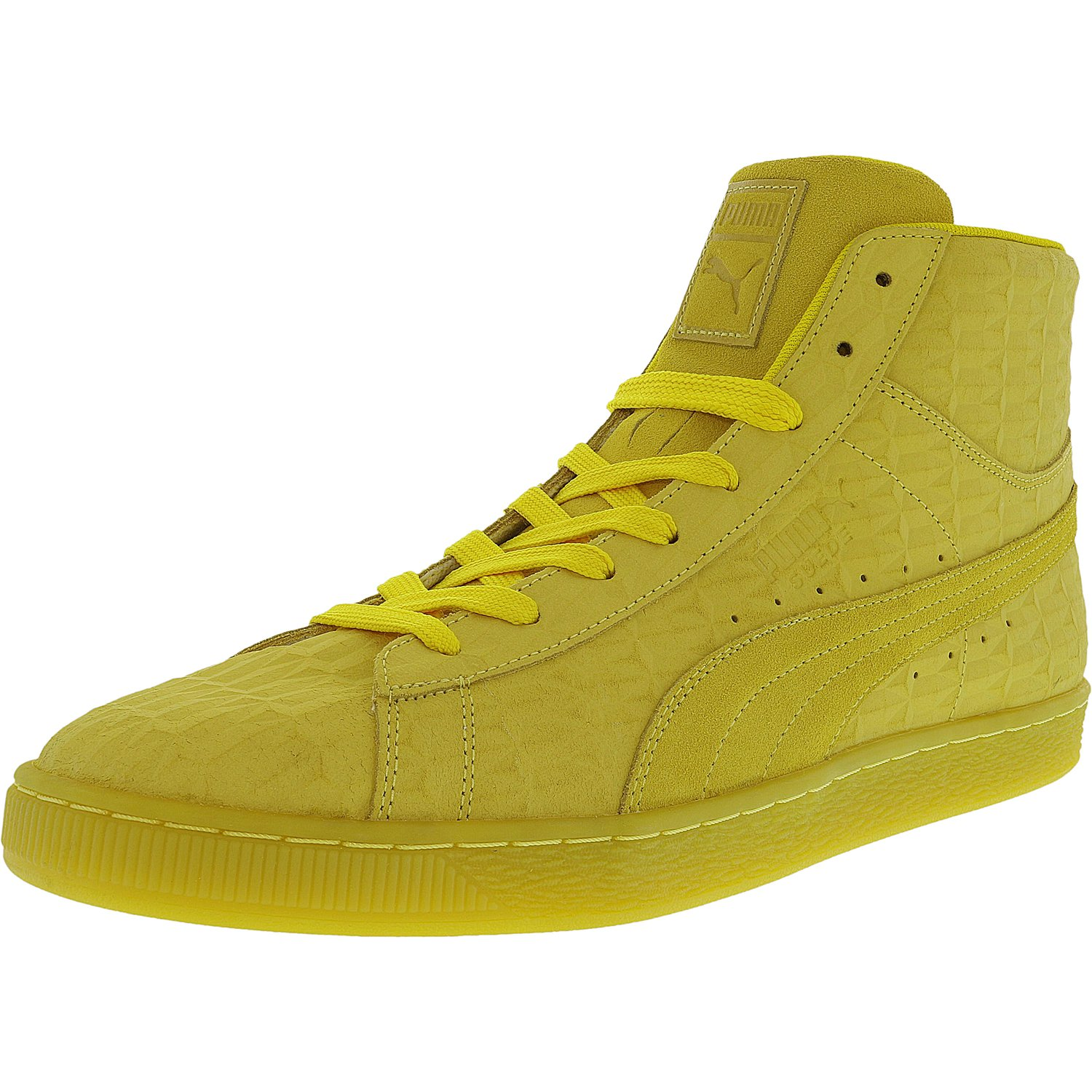 Puma Men's Mid Me Iced Suede Buttercup   White Fashion Sneaker 8M by Puma