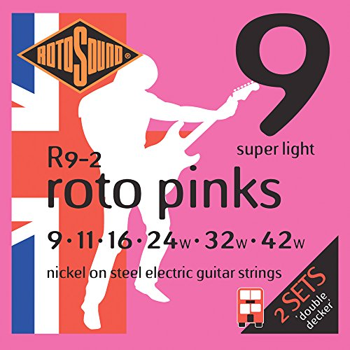Rotosound Roto Pinks Double Deckers Electric Guitar Strings 2-Pack by Rotosound