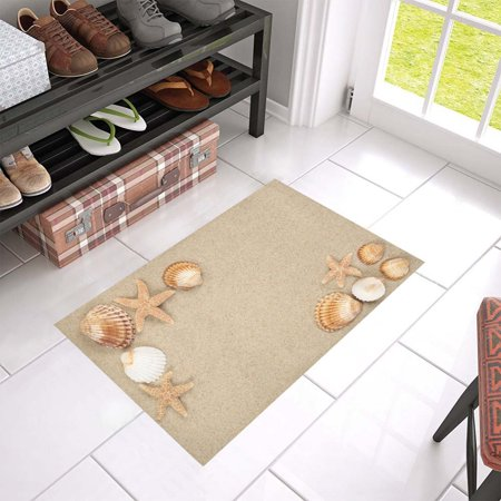 MKHERT Sea Shells and Stars Doormat Rug Home Decor Floor Mat Bath Mat 23.6x15.7 inch ()
