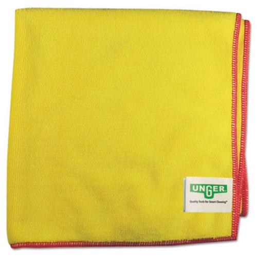 Unger MF40Y Smartcolor Microwipes 4000, Heavy-duty, 16 X 15, Yellow/red, 10/case
