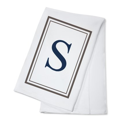 Monogram - Estate - Gray & Blue - S (100% Cotton Kitchen Towel)